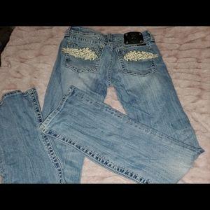 Angel wings Miss Me jeans